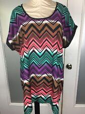 Motherhood Maternity Shift Dress XL Geometric