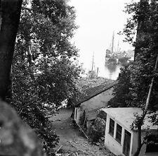 TURQUIE c.1960 -  Vue sur le Port  Cabanes  Antalya - Négatif 6 x 6 - Tur 10