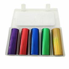 More details for toner foil roll set laminator reactive foil red blue green purple holo gold