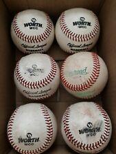 6 Used All Leather Worth / Diamond Baseballs Lot