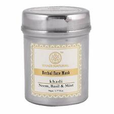 Khadi Natural Neem, Basil and Mint Anti Acne Face Mask, 50g