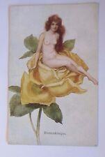 """""""Neujahr, Frauen, Rose, Erotik, Blumenkönigin"""" 1910,  Vienne Munk  ♥ (51917)"""