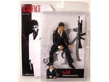 "Scarface Tony Montana ""The Fall"" 7"" Black Suit Figure w/ Machine Gun NEW MIB"