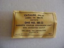 Lionel 480-34 Mint Sealed Hagerstown Envelope