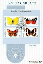 BRD 2005: Schmetterlinge! Ersttagsblatt Nr. 2500-2503 mit Bonner Stempel! 1510
