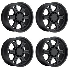"Set 4 17"" Vision 372 Raptor Black Wheels 17x8 6x135 25mm Ford Expedition 6 Lug"