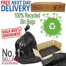 Black Heavy Duty Refuse Bin Bags Box of 200 Bags