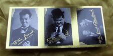 RARE UNCUT STRIP Laurel & and Hardy STAN / OLLIE / DUO GOLD AUTOGRAPH CARD(S)