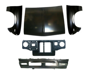 NEW Front End Repair Set Metal Panels For Nissan Datsun 1200 B110 B120 Sunny