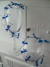 Fish bowl/Martini or wine glass wedding table decoration- dragonfly or butterfly