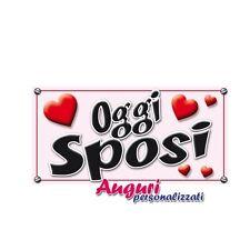 """Targa magnetica """"Oggi Sposi"""" regalo divertente per matrimonio. auto,cartello,scr"""