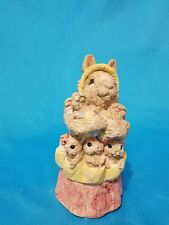 Mother Easter Bunny With Her 5 Babies Figurine