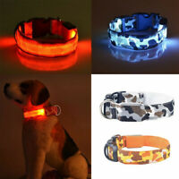 LED Light Up Pet Dog Cat Neck Strap Collar Flashing Puppy Night Safety Collar