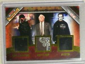 2010 TriSTAR TNA Gold Triple Memorabilia Hulk Hogan Ric Flair Sting /50 *83324