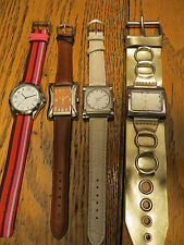 New Old Stock LeJour Lot of 4 SAMPLE DUMMY WATCHES FOR REPAIR PARTS MOD Look