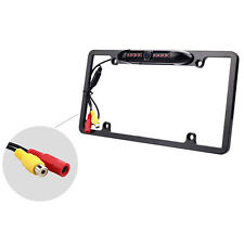 US License Plate Frame Mount Waterproof Night Vision Car Rear View Backup Camera