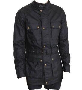Belstaff 8002Trailmaster Wax Jacket Black Size I 42 UK 32 Small BNWT