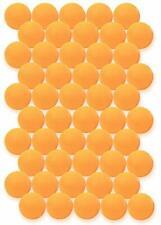 Click N' Play 50 Pack Orange 3-Star Premium Tennis Ping Pong Balls