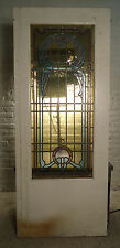 Single Vintage American Stained Glass Door