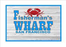 San Francisco Fisherman'S Wharf riproduzione metallo segno AMERICAN VINTAGE REPRO
