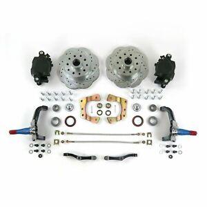 "Mustang II IFS 11"" Big Disc Brake Conversion Kit Stock Spindles 5x4.75 GM D154"