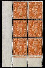 1941 2d CILINDRO Arancione Pallido 55 NO DOT unmounted Nuovo di zecca V75622