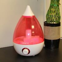 Hometek Drop Ultrasonic Cool Mist Humidifier- Pink