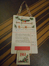 Brown & Bigelow ? Old Xmas Card Love & Affection & Co. Dealers In Hearty Wishes