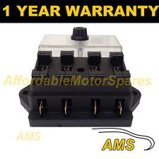 NEW 4 WAY UNIVERSAL STANDARD 12V 12 VOLT ATC BLADE FUSE BOX / COVER CAMPER VAN