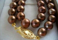 "8mm Chocolate South Sea shell Pearl Necklace 18"" AAA"