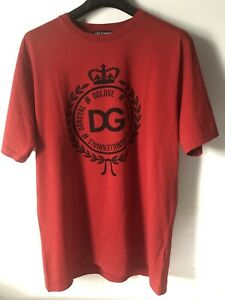 Dolce Gabbana T-shirt Size 54 Red New