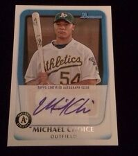 MICHAEL CHOICE 2010 TOPPS REFRACTOR Autographed Signed AUTO Baseball Card BPA-MC
