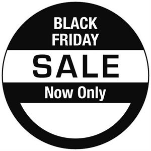 Black Friday Sale Price Point Stickers Sticky Labels - 6 sizes to choose from