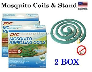 PIC Mosquito Repellent Coils- 2 Box! Patios, porches, Outdoor use Mosquito Coils