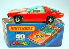 "Matchbox Superfast Nr. 40B Guildsman rot grüne Scheibe ""Streaker"" top in Box"