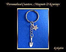 Mini Trowel Charm Keyring Gardening Gardeners Gift Keychain Birthday Xmas Gift