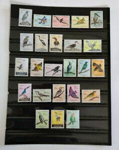 "Angola Birds 1951 Scott ""333 - 356"" MNH"