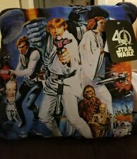 """Star Wars Cast Throw Pillow (15""""x15"""") NEW 40th Anniversary. Han Solo,  Chewbacca"""