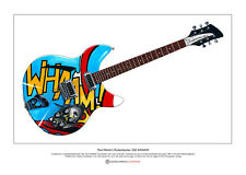 More details for paul weller's rickenbacker 330 whaam! limited edition fine art print a3 size