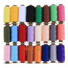 24 Roll Colorful 500 Yards Durable Hand Stitch Cotton Line Sewing Thread Kit Lot