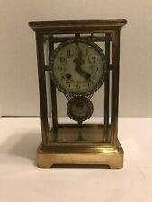 Antique Brass  Crystal Regulator Clock .Japy Freres