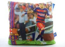 Coussin Neymar FC Barcelone Football Avec Signature 32cm