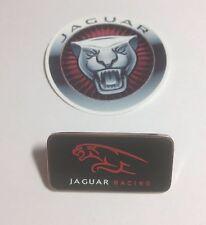 Genuine Jaguar Racing Pin Badge & Jaguar Sticker