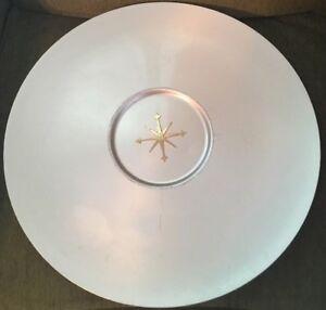 "Vintage Mid Century Modern Mirro Medallion Starburst 17"" serving tray/platter"