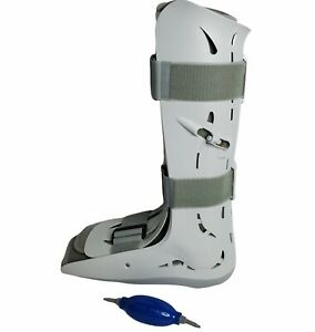 Aircast FP Walker Pneumatic Walking Boot Ankle Leg Brace 01F-L Large with pump