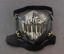 Mens Unisex SteamPunk Punk Biker Gothic Golde Leather Half-face Mask Masquerade