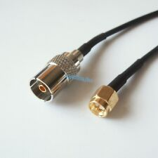 8inch RG174 cable IEC PAL DVB-T female to SMA male crimp jumper pigtail 20cm