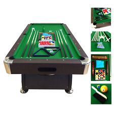 7' Feet Billiard Pool Table Snooker Full Set Accessories Game mod. Green Season