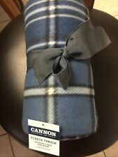 """New! Great Gift! Cannon 50 X 60"""" Fleece Multicolor Plaid Throw Blanket. Nwt"""