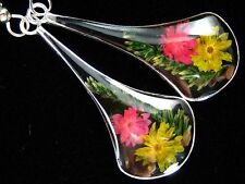 Unique Straw Flower Earrings - FREE Shipping, FAST Delivery, US SELLER, Colorful